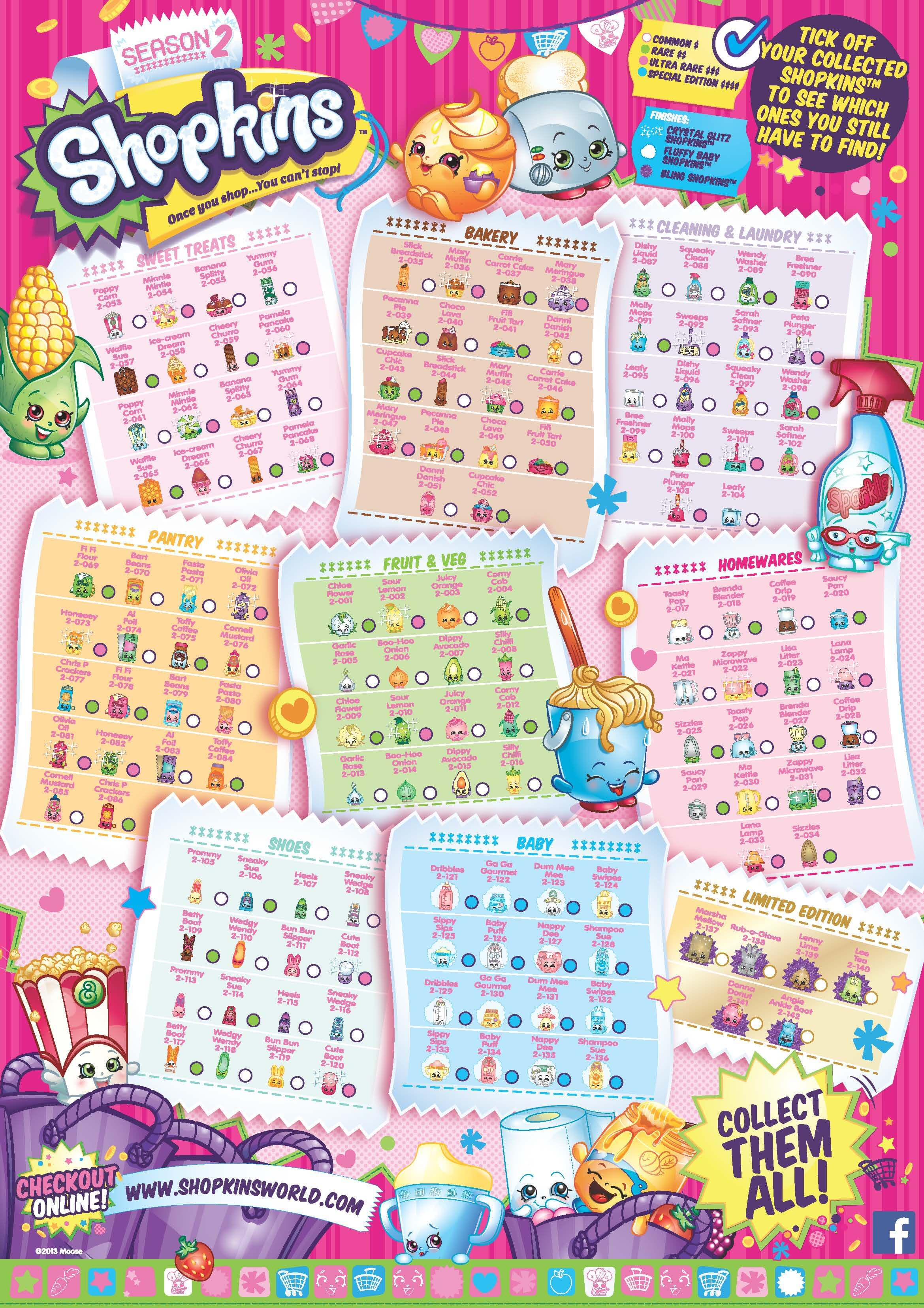 picture regarding Shopkins Checklist Printable identified as Shopkins Year 2 Record -
