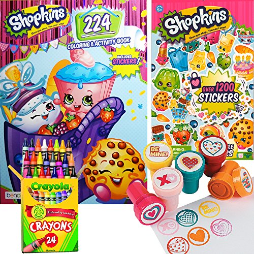shopkins coloring stamper activity book set include 1 coloring