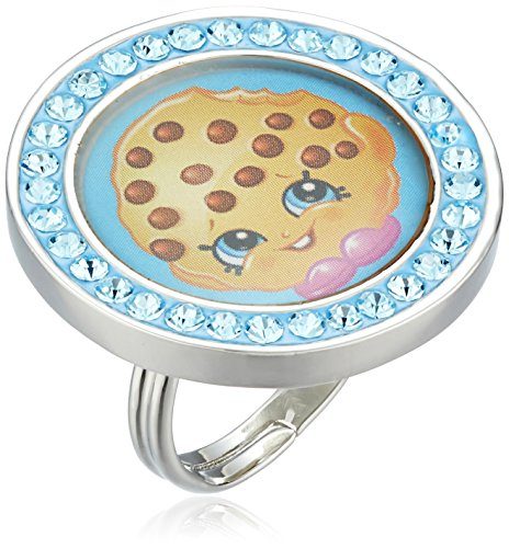 Shopkins Girls Crystal Strawberry Kiss Round Adjustable Ring Size 5-7