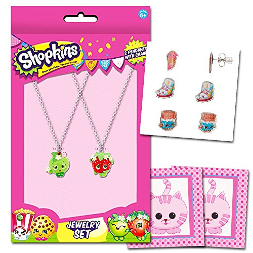 Shopkins New Sneaky Wedge Necklace Earrings Ring Jewelry Set